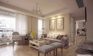 精致素雅美式公寓效果图