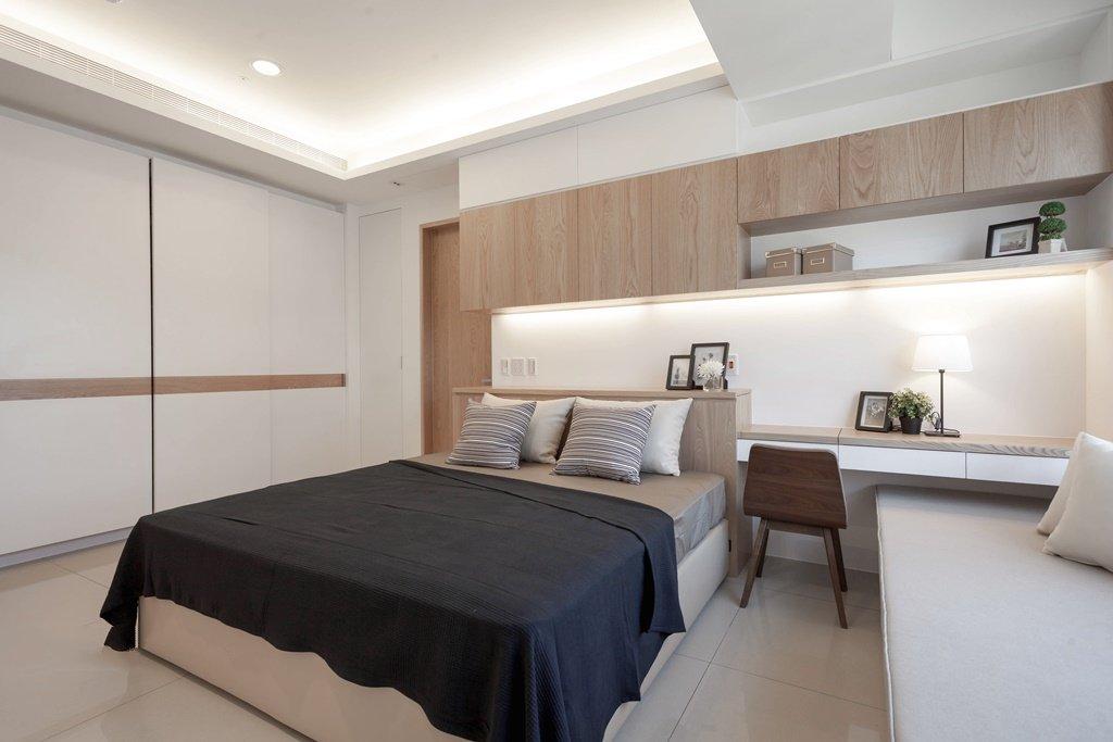 简约卧室移门衣柜设计图