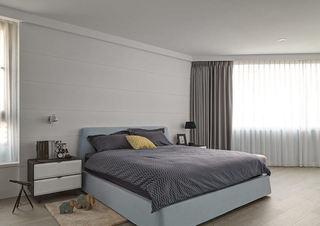 现代装修卧室窗帘装饰