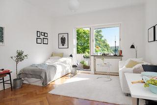 时尚黑白简约北欧风小公寓效果图