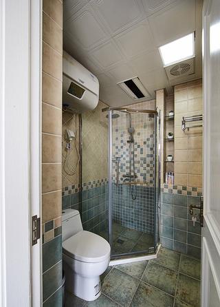 清新美式卫生间淋浴房设计