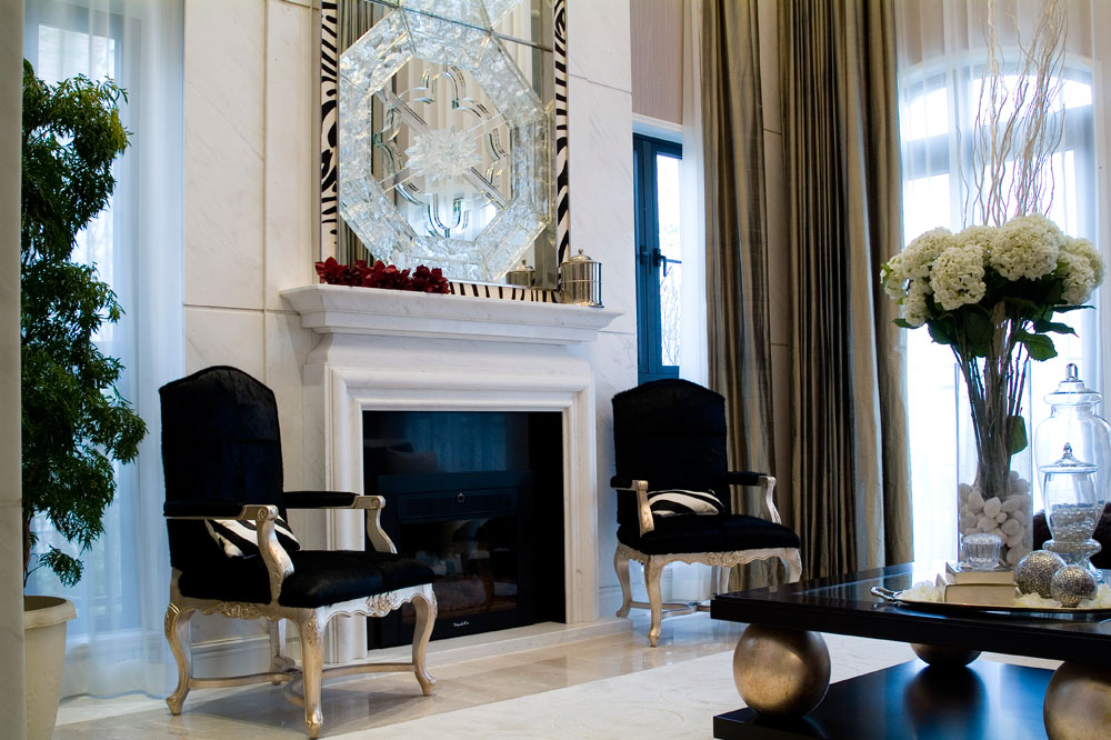 奢华黑白简欧风格 别墅装饰设计