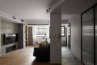 70平二居室现代装修案例图