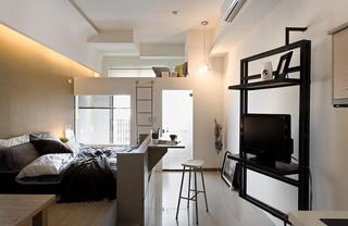 现代简约日式跃层小户型创意空间设计欣赏