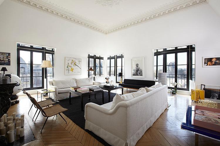 时尚黑白色摩登北欧风 公寓混搭设计