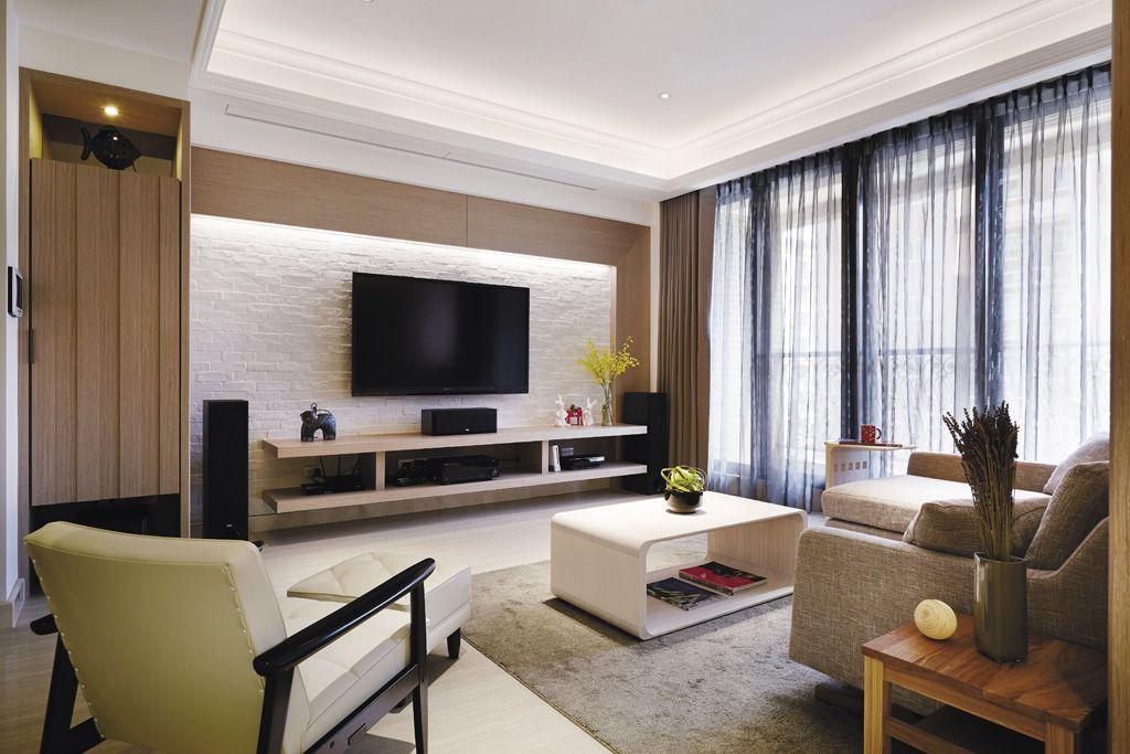 9万设计装修现代时尚三室两厅效果图