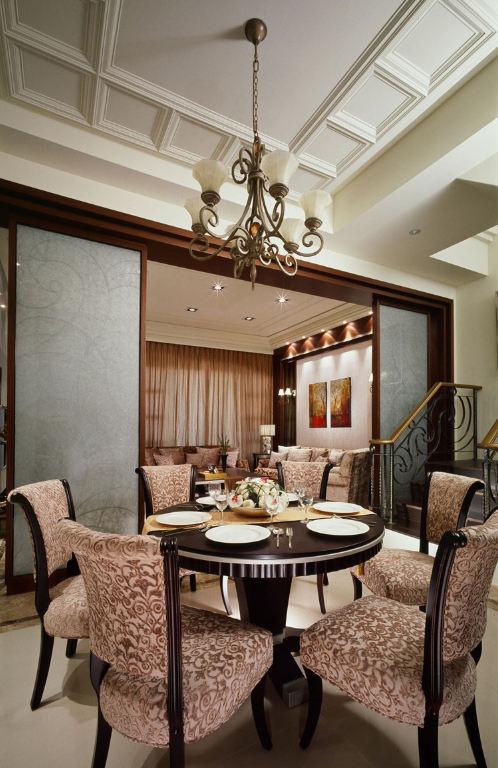 时尚家居餐厅美式吊灯装饰图