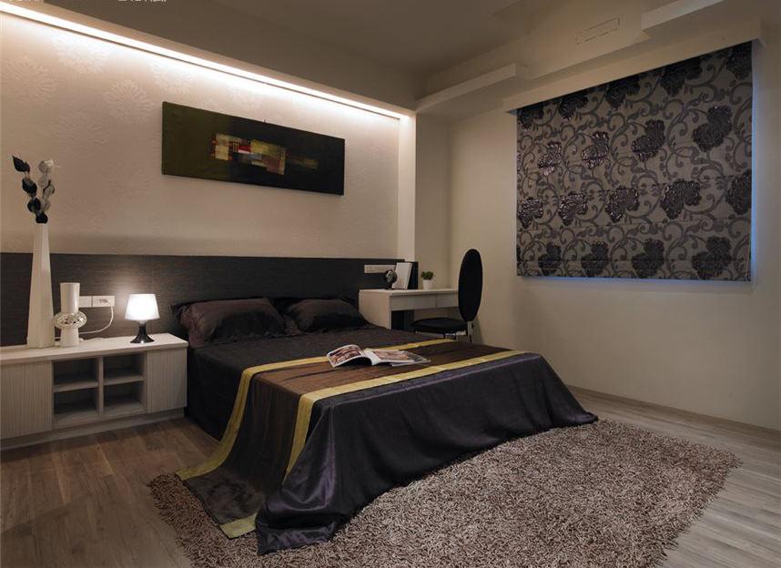 后现代风卧室黑色家装设计