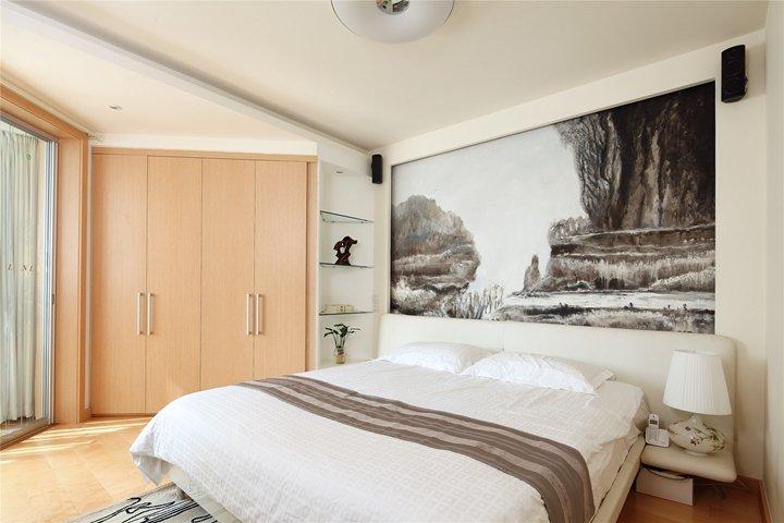 时尚简约卧室米色衣柜设计