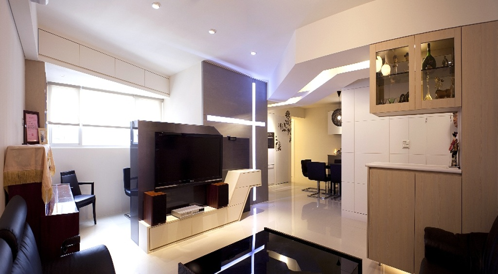 现代创意设计一居室案例图