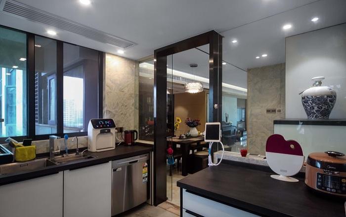现代家装厨房隔断设计装修图