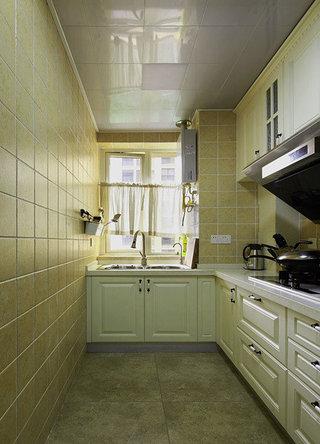 清新黄色系美式厨房设计