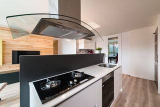 宜家现代时尚开放式厨房油烟机安装效果图