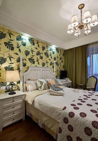 美式新古典 卧室背景墙效果图