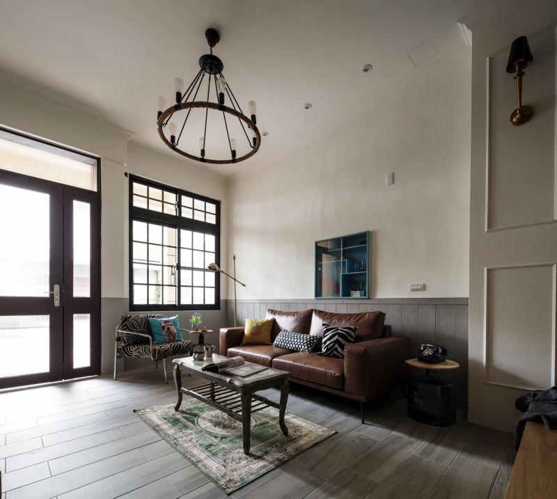 古朴美式乡村客厅室内设计装修图