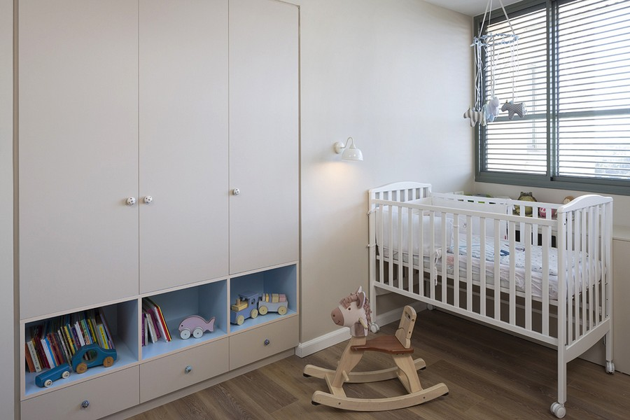 清新现代风儿童房衣柜设计