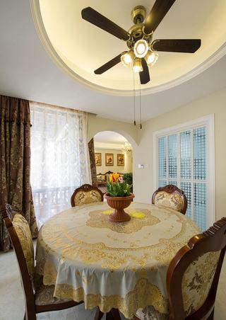 精美复古欧式家装餐厅吊顶设计