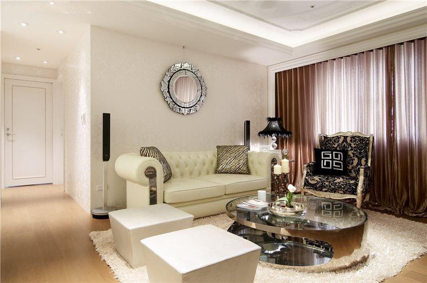 唯美简欧新古典风格三居室设计