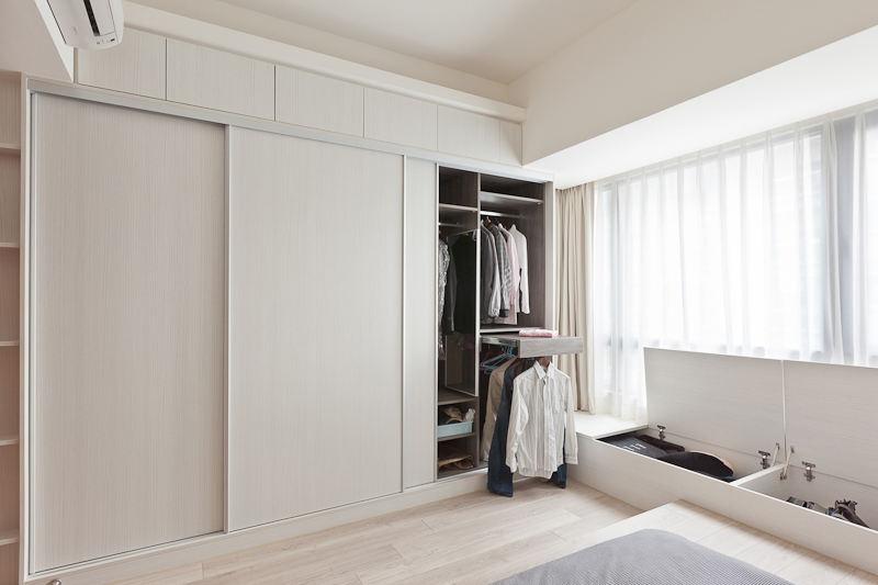 时尚简约卧室订制衣柜装饰效果图