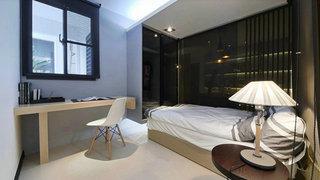 现代简约卧室窗户效果图