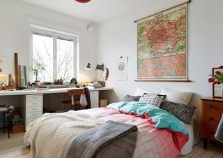 复古北欧风格卧室背景墙设计
