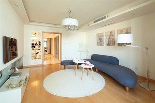 时尚简约三室两厅 米色主打效果图