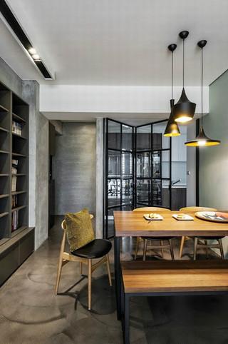 72平米小户型公寓现代简约设计装潢案例图