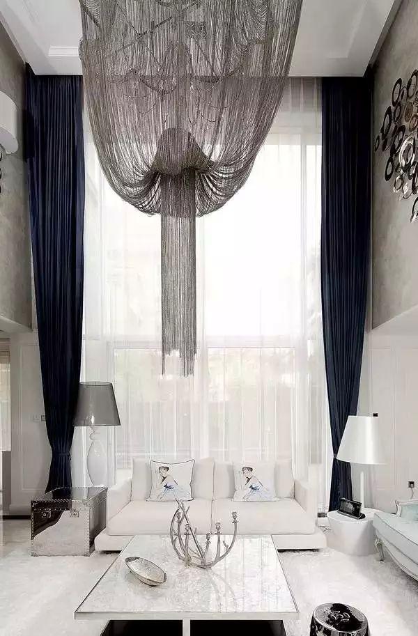 奢华简约欧式客厅窗帘效果图