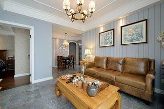 精致复古美式家装 三室两厅设计
