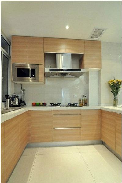 现代简约装修厨房效果图