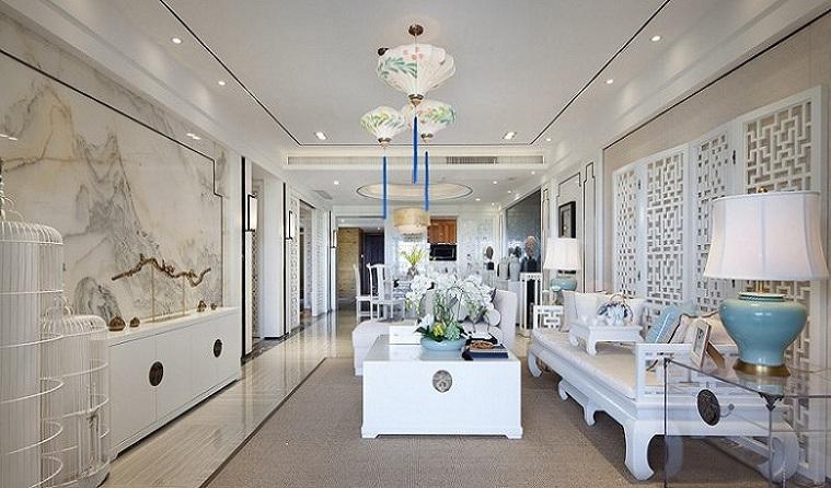 唯美中式新古典 客厅吊顶设计