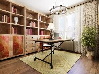 精致复古美式家装书房设计