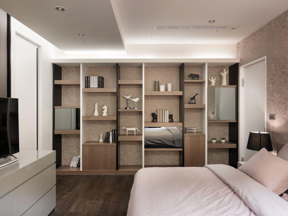 现代宜家风 卧室博古架设计