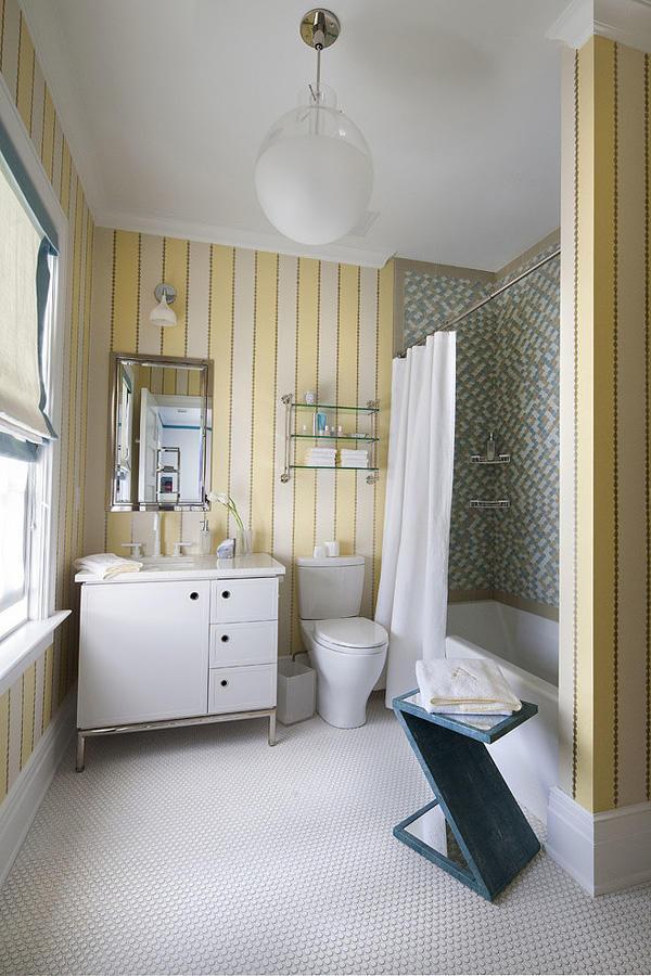 黄色点缀优雅美式整体卫生间装饰效果图