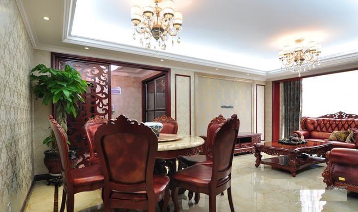 奢华欧式古典风格红木家具装饰效果图