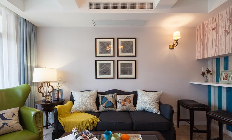 唯美美式风格客厅壁灯设计