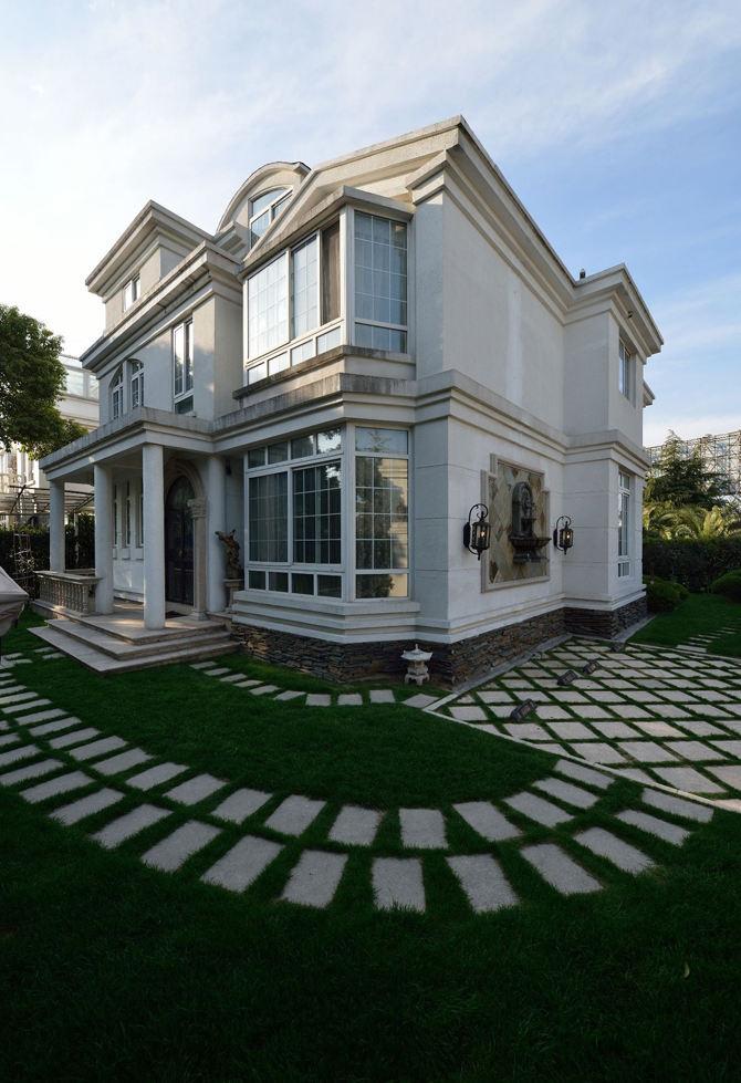 奢华精美欧式独栋别墅外墙设计