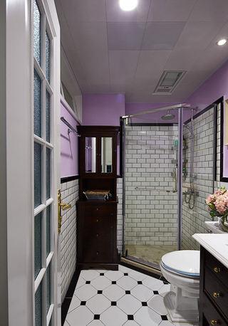 浪漫美式卫生间淋浴房设计