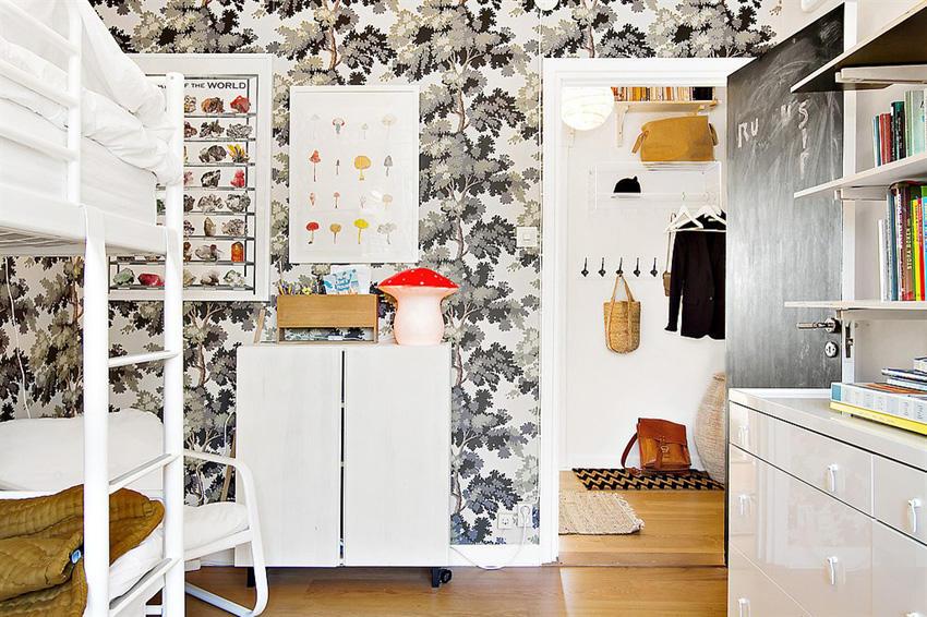 个性北欧风卧室背景墙设计