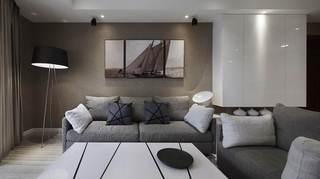 沉稳现代风格二居室装修图