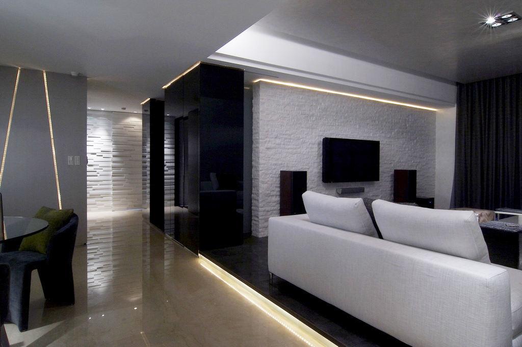 时尚黑色系日式现代风 两室两厅设计