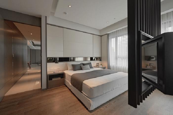 创意时尚现代家装卧室旋转电视柜设计图