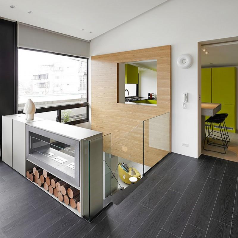 现代简约装修 复式楼梯玻璃护栏设计