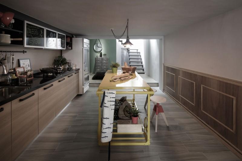 最新美式乡村风格厨房装修效果图