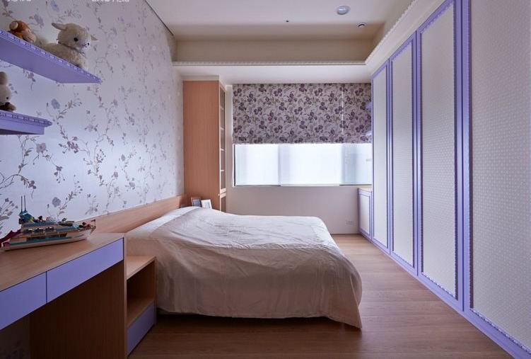 时尚紫色田园风卧室装饰大全
