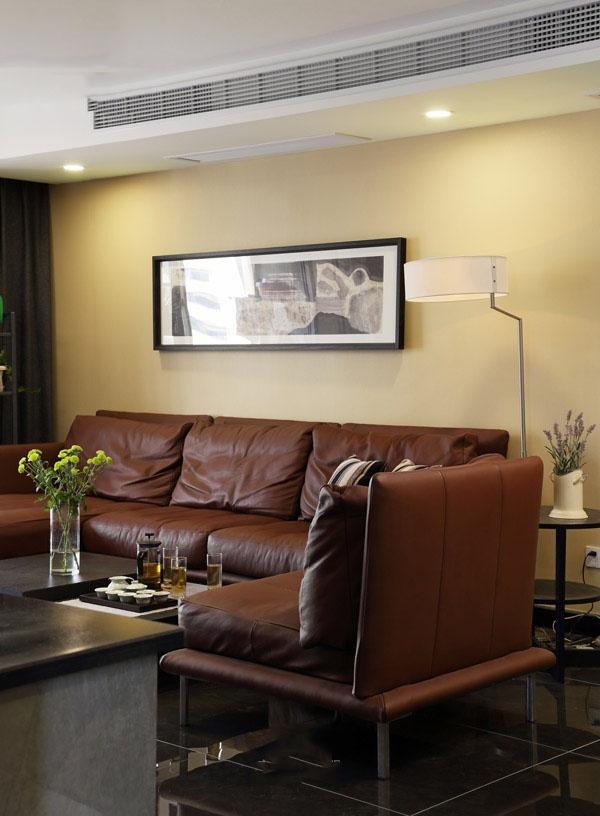 清新黄色现代时尚家居室内沙发装饰效果图