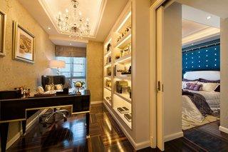 豪华新古典书房卧室隔断设计