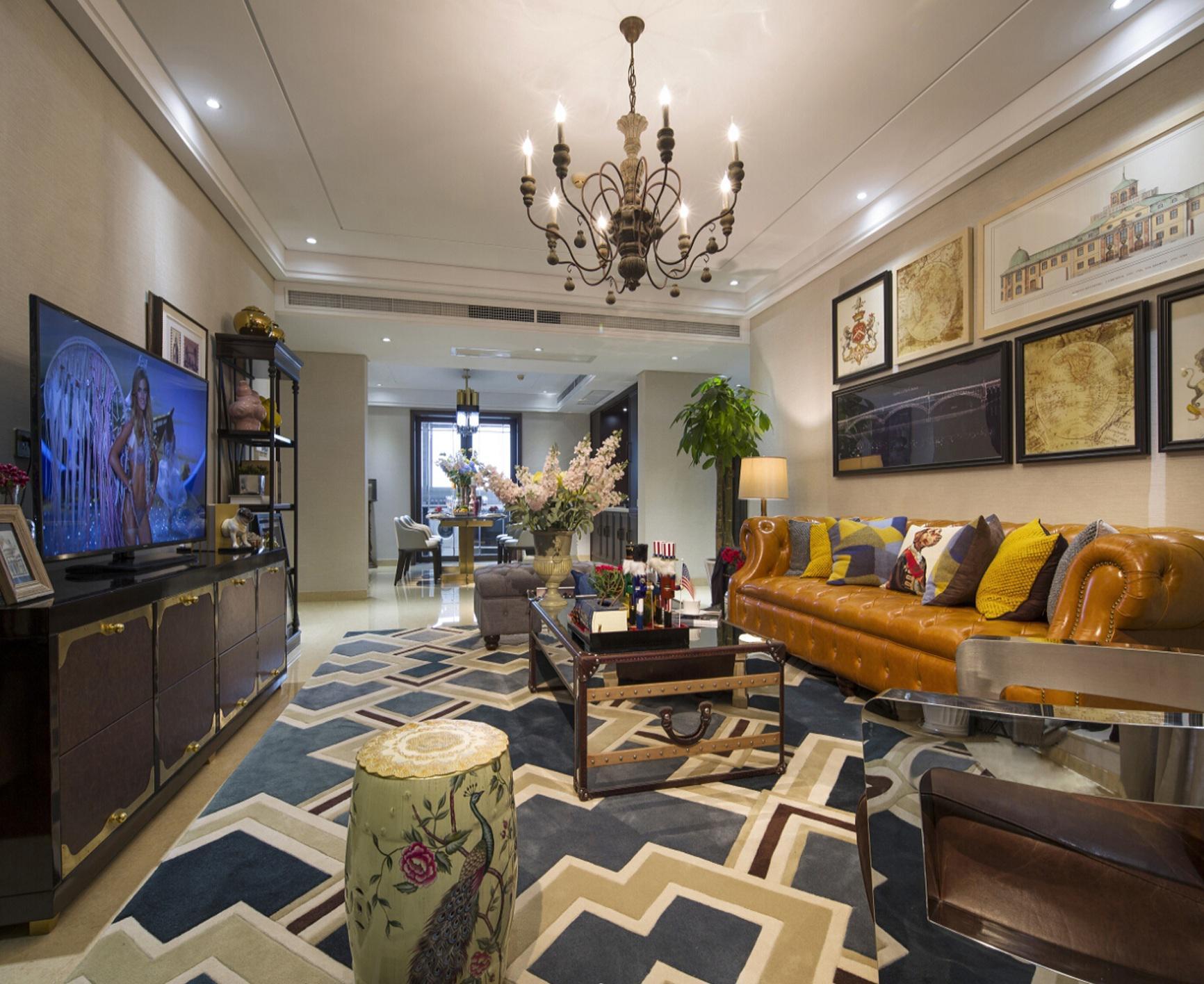 休闲美式风格家居室内设计装修图片