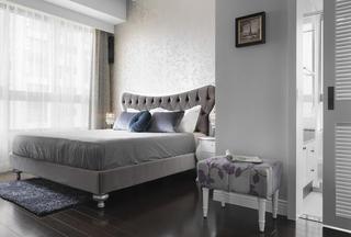 简欧时尚现代家装卧室隔断装修设计图