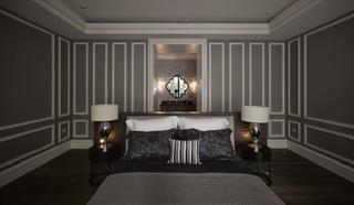 家装卧室后现代风格设计装修效果图
